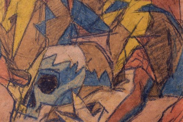 il-cranio-e-la-candela-1940-dettaglio-teschio
