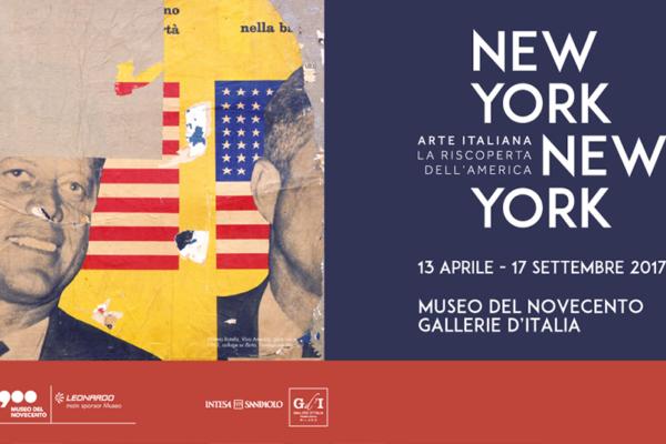 locandina Mostra newyork-newyork milano museo del novecento